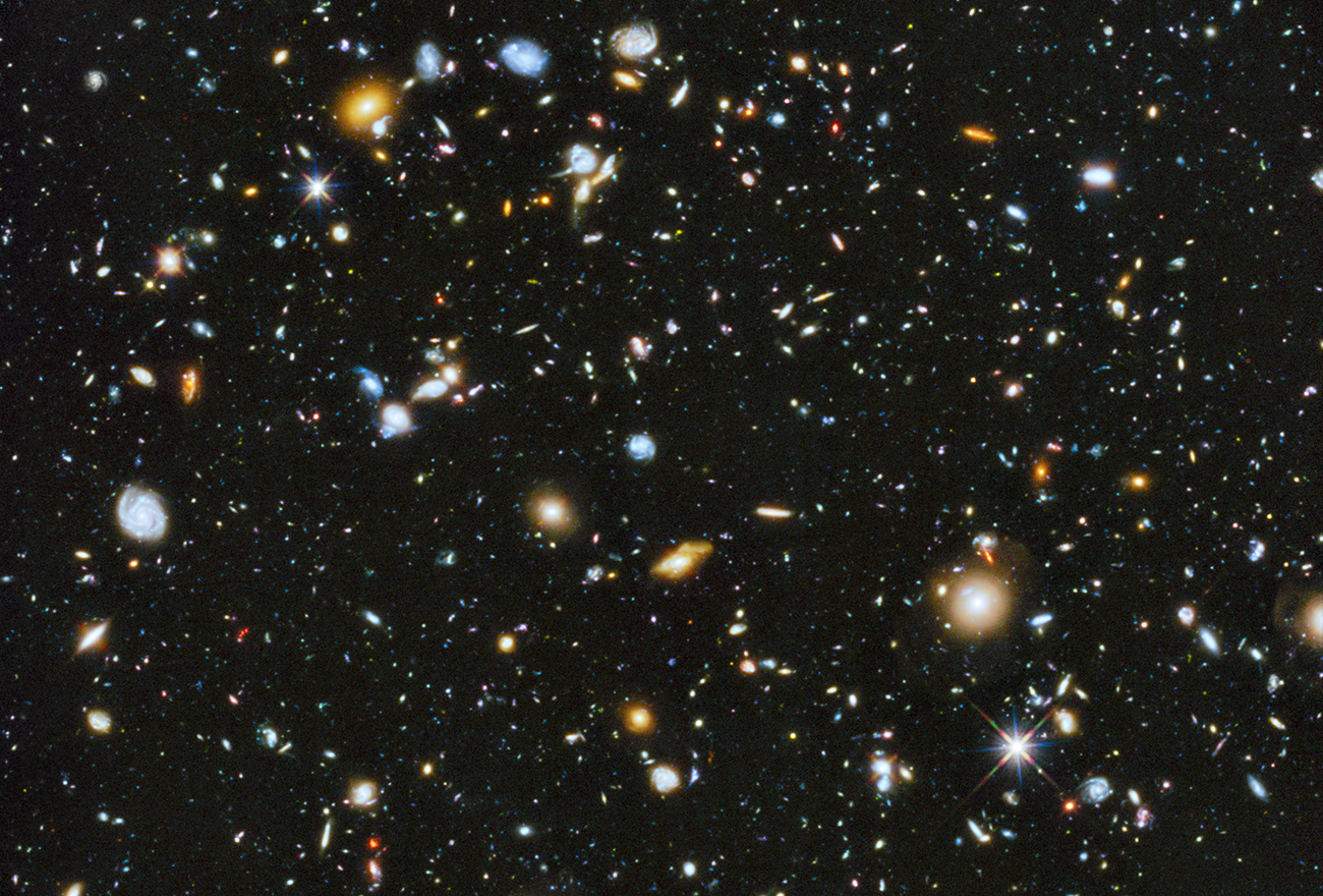 Hubble Ultra Deep Field 2014  Credit: NASA, ESA, H. Teplitz and M. Rafelski (IPAC/Caltech), A. Koekemoer (STScI), R. Windhorst (Arizona State University), and Z. Levay (STScI)