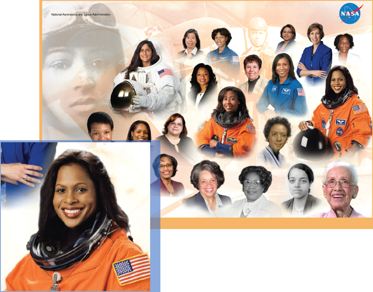 Women of Color: Pioneers and Innovators - View and download this two-sided poster featuring inspiring women of color in modern aviation, astronomy, and aerospace.Audience: All LearnersPoster: Women of Color (2.8 MB PDF)