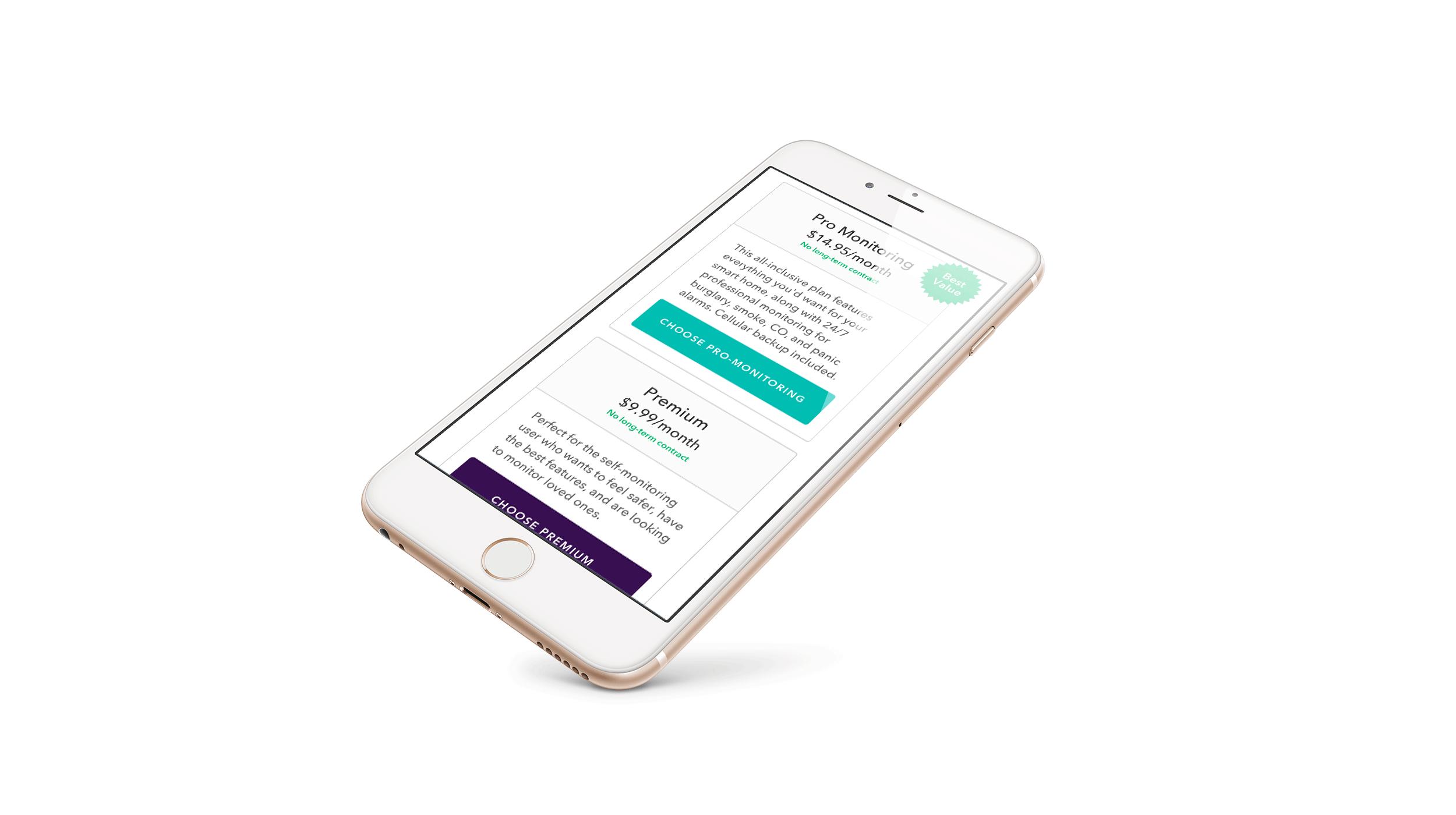 SaaS Plans Selection - Mobile Responsive