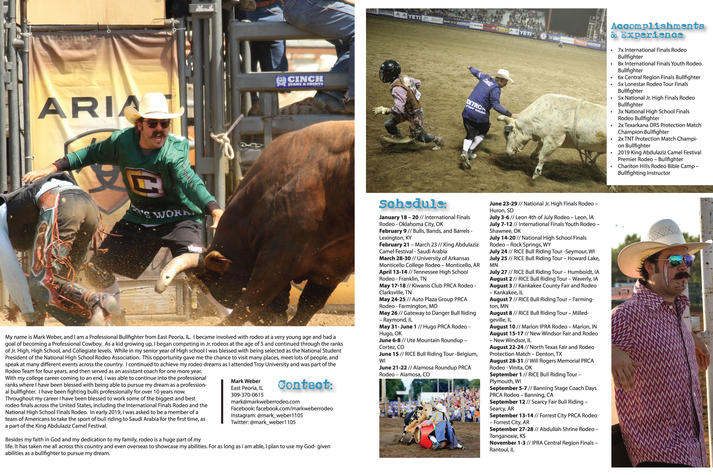 Sponsorship Packet Design    (pictured is the center spread) // 4-page, self-cover, 4-color throughout