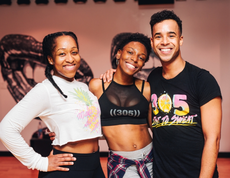 305 Fitness Instructors Dominique, Candace & Julien