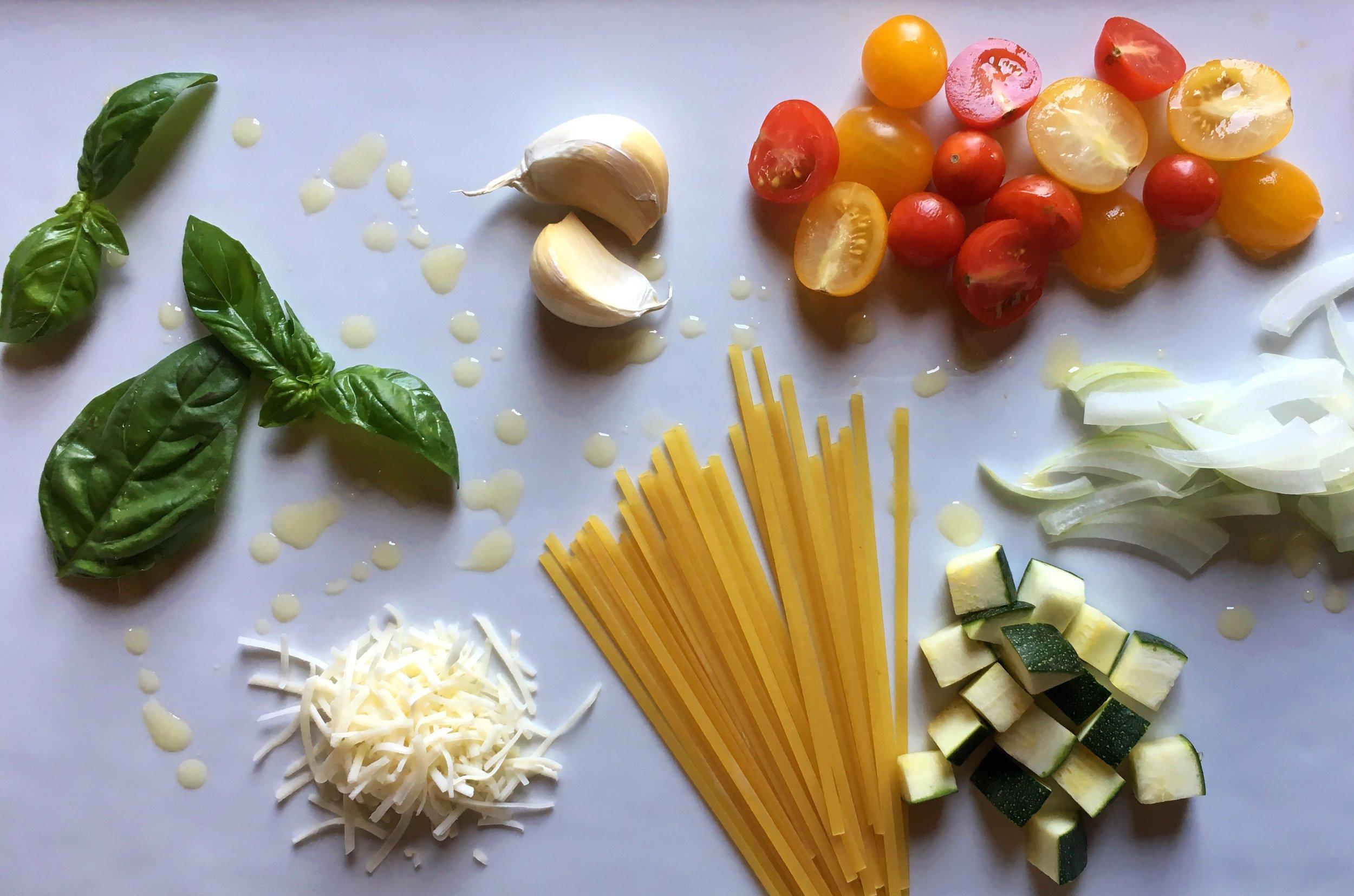 ©Pasta Ingredients by Susan Reid