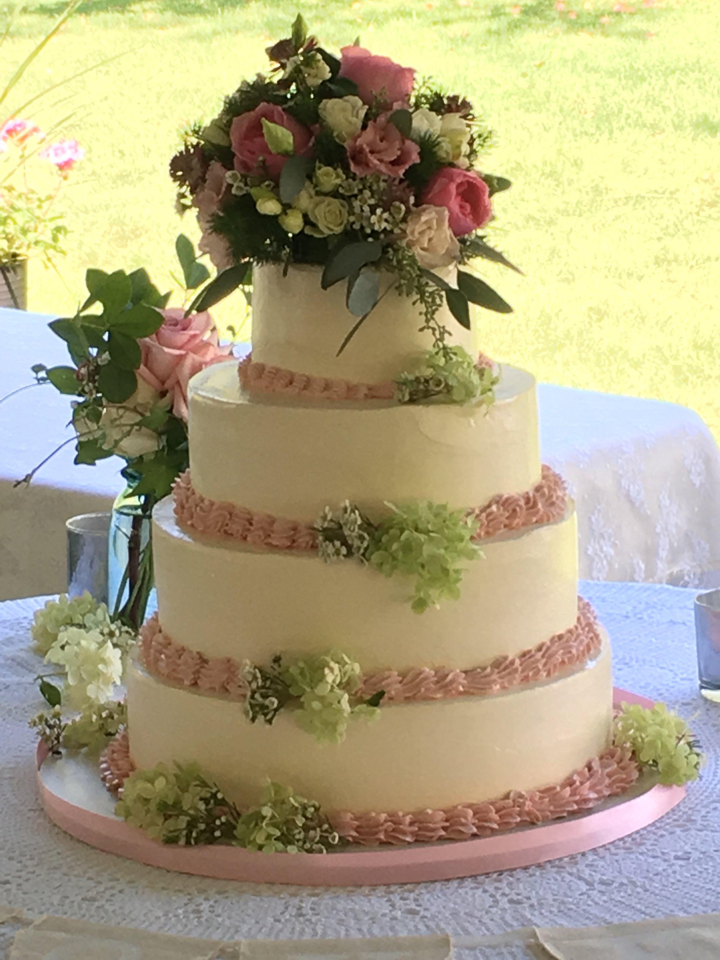Hillary's wedding cake