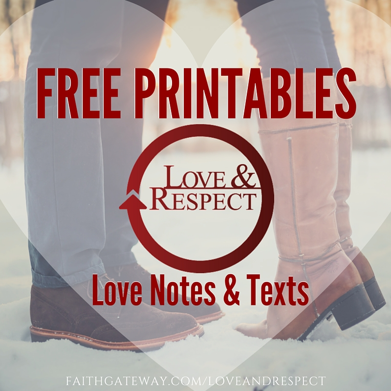 Free Printables - Love Notes and Texts