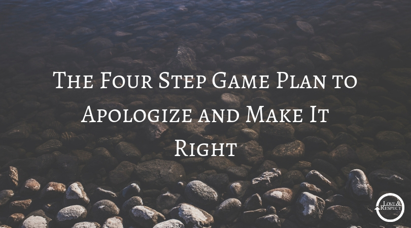 The Four Step Game Plan to Apologize and Make It Right