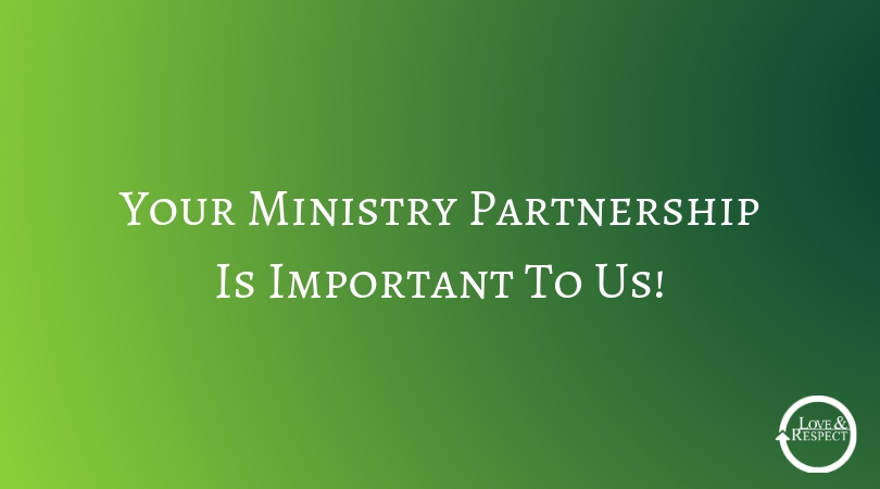 Your Ministry Partnership Is Important To Us