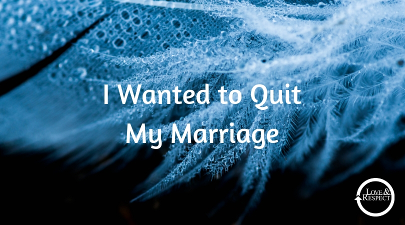 I Wanted to Quit My Marriage