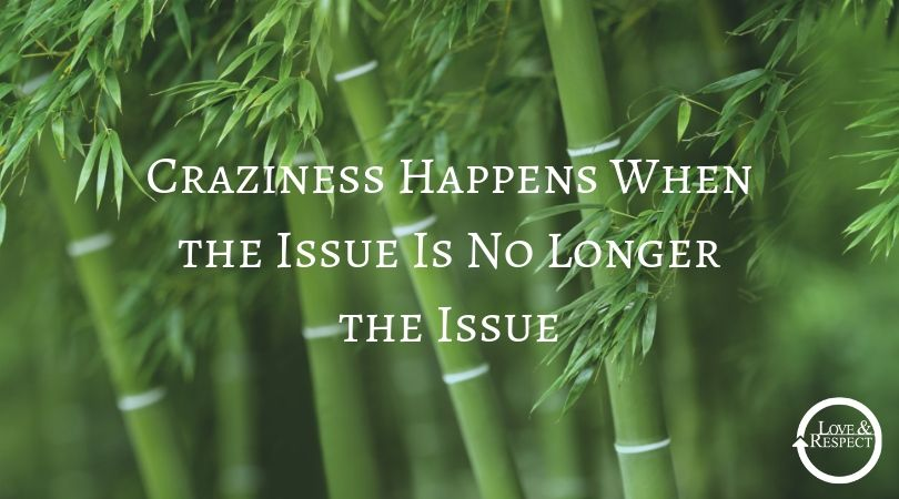 Craziness Happens When the Issue Is No Longer the Issue