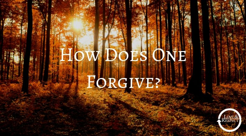 How Does One Forgive?