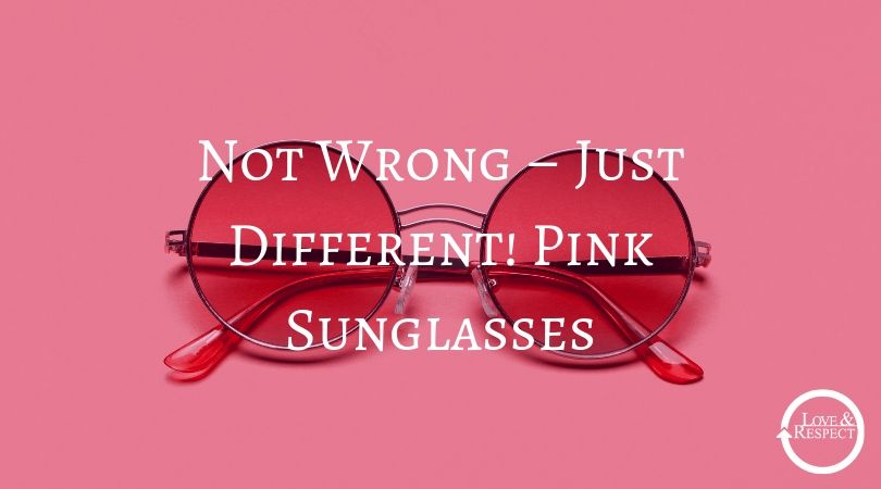 Not Wrong – Just Different! Pink Sunglasses