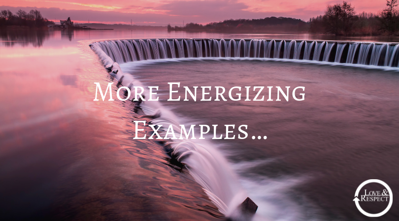 More Energizing Examples…