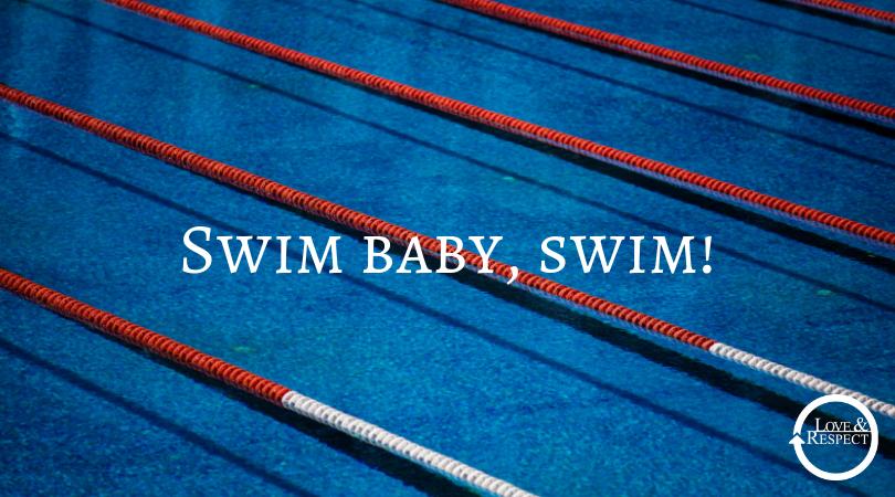 Swim baby, swim! (By Joy Eggerichs, Emerson's daughter)