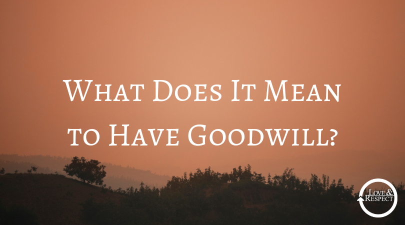 What Does It Mean to Have Goodwill?