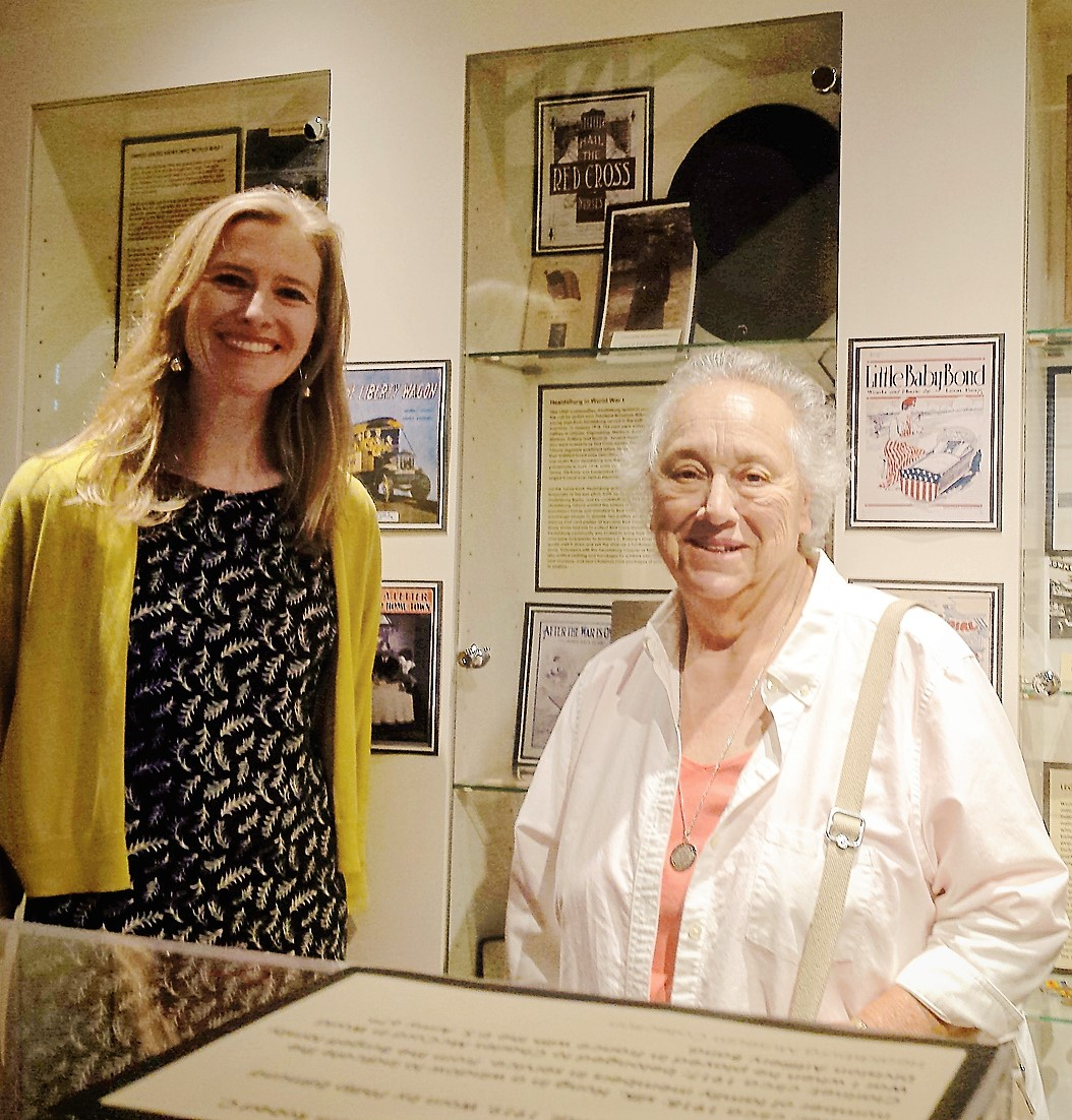 Whitney Hopkins with Gaye LeBaron, well-known Sonoma County historian