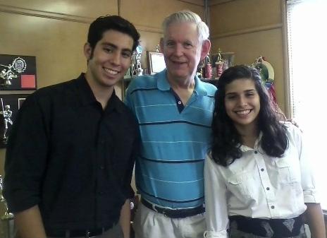 Alex Hernandez, Roger Grein, and Elisa Hernandez