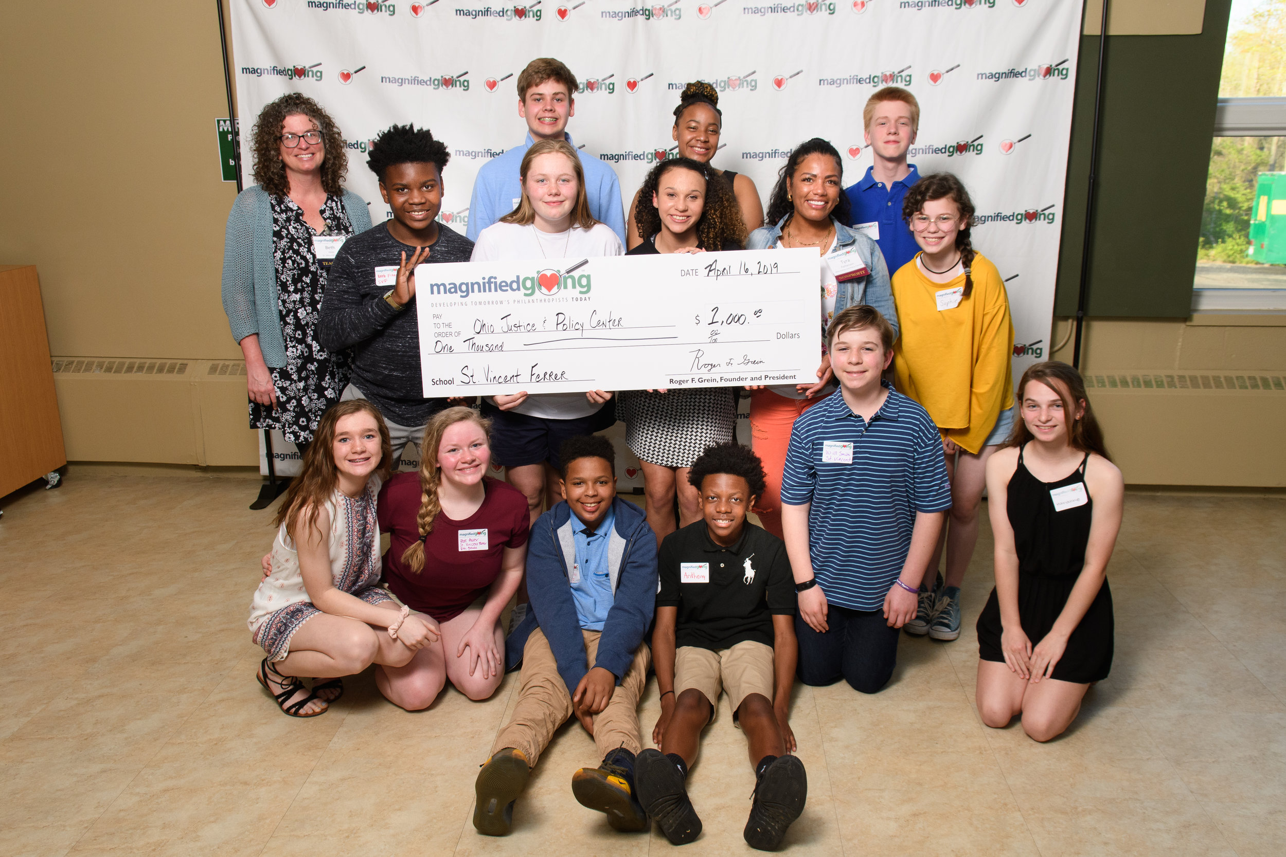 Award Ceremonies 2019 - 100 participating schools and youth groups awarded their 2019 youth philanthropy grants at the end of the school year. Check out the photos below to see the excitement and joy of giving!