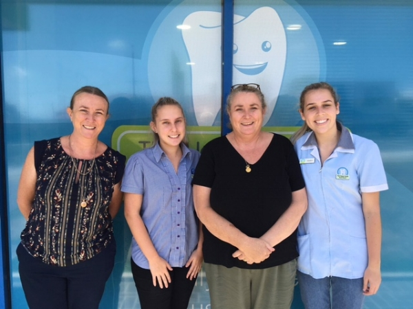 Lyn, Staff member Hayley, Cathy and staff member Candice.