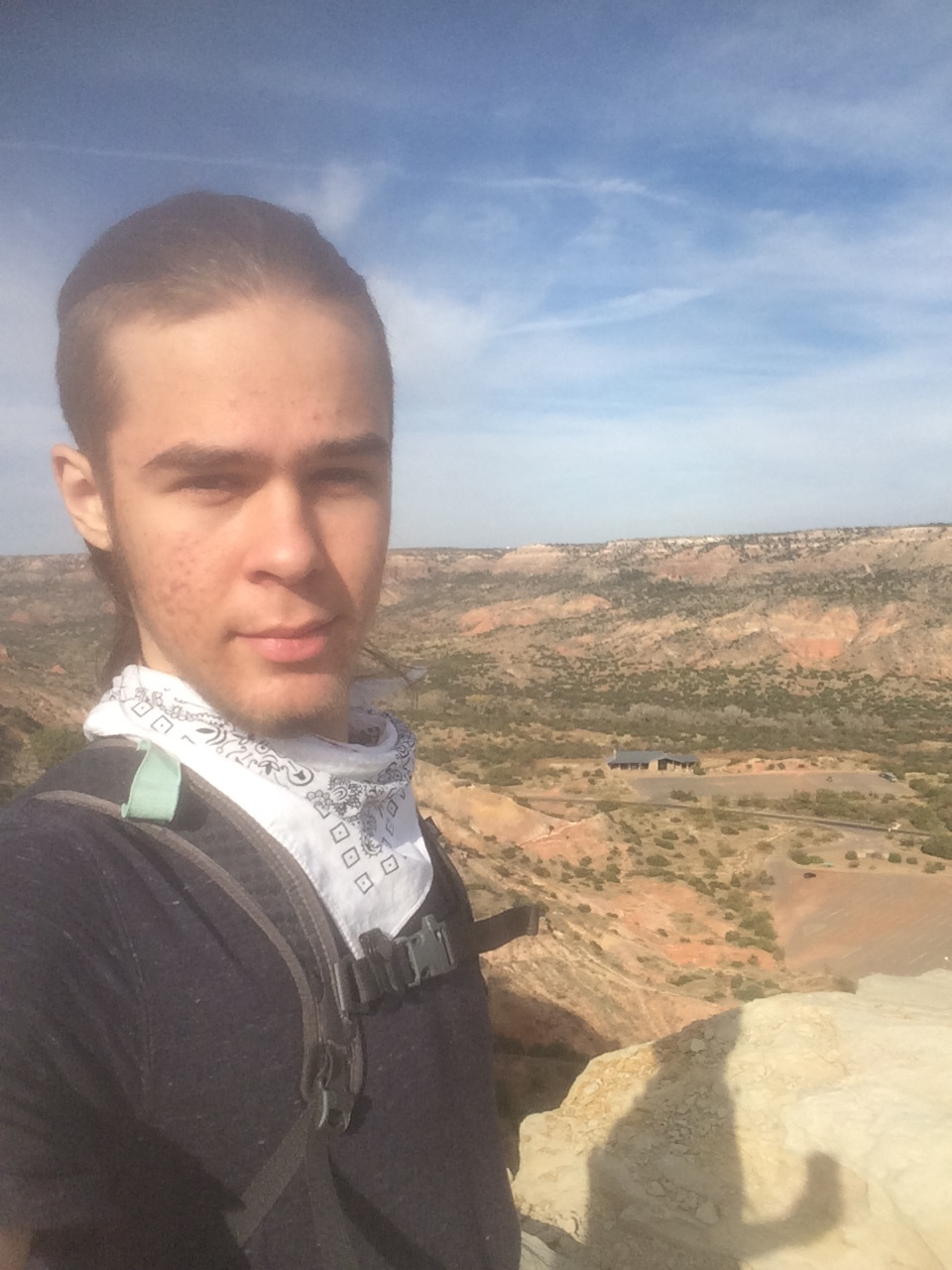Hiking in Palo Duro Canyon State Park near Amarillo, TX