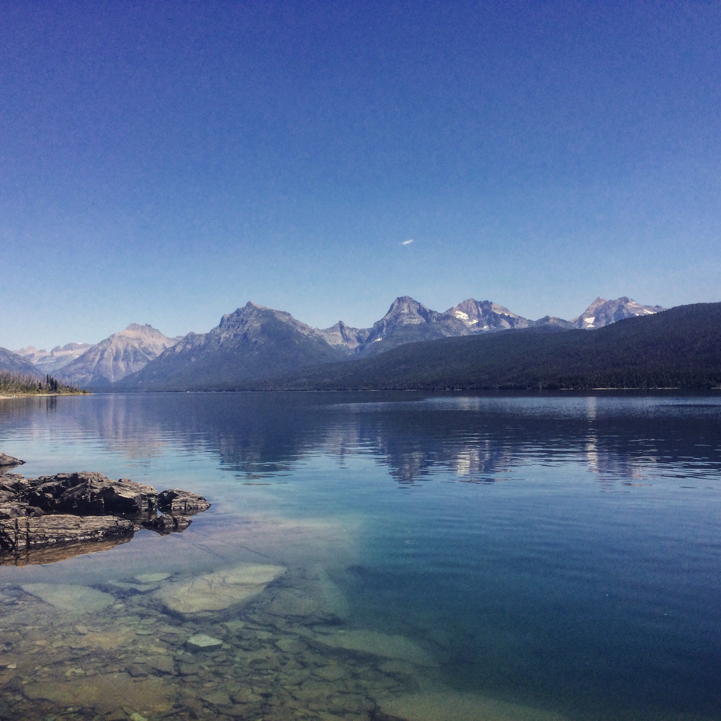 The lakes in Glacier are long, deep and cold. Carved by glaciers long since gone, they are now hotspots for recreation.