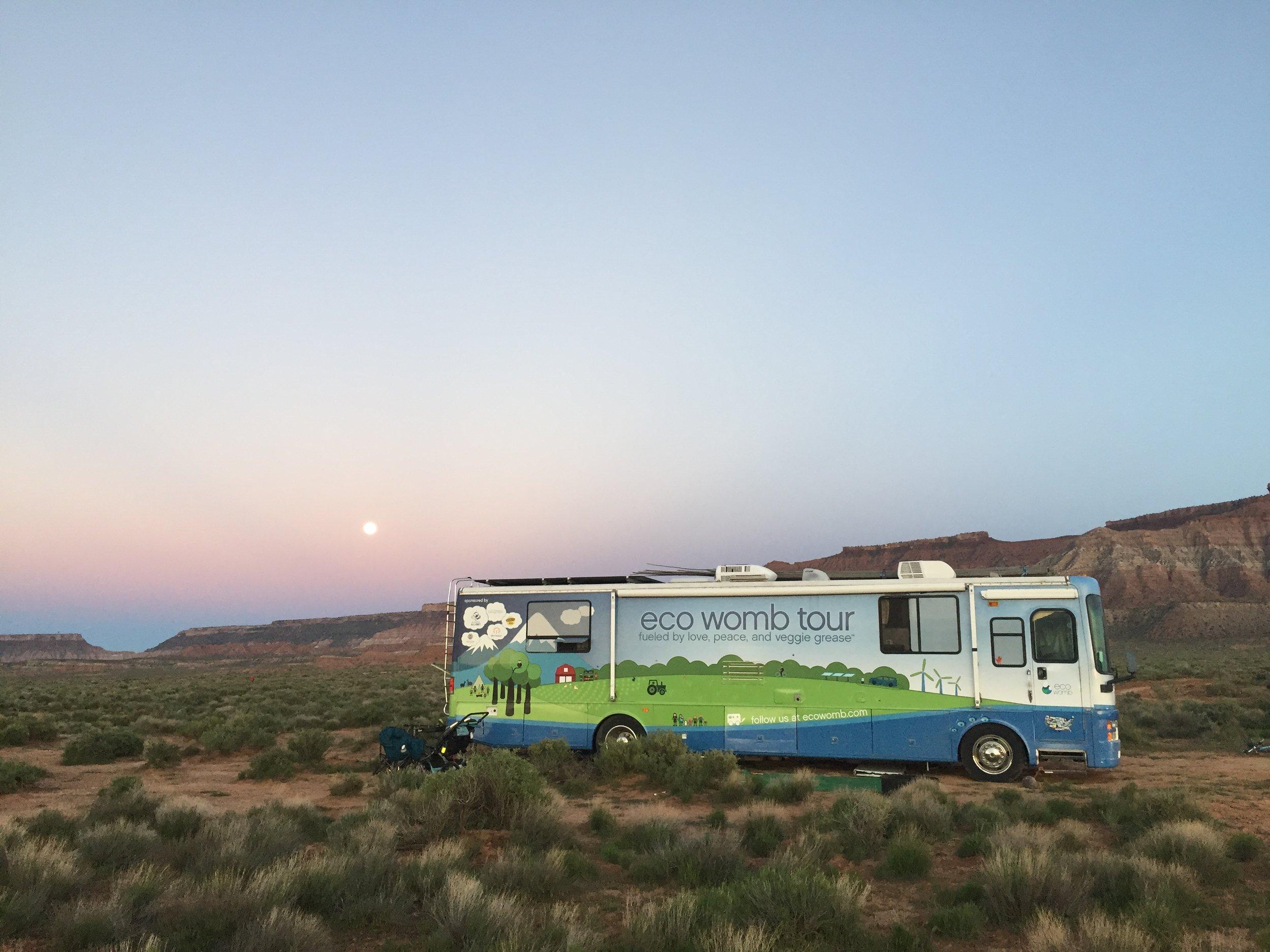 The full moon rises over the red rocks of Southwest Utah.