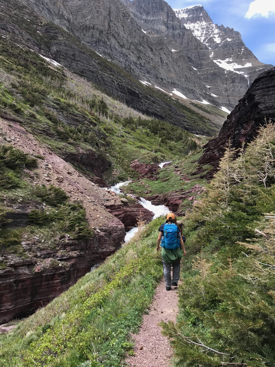 Hiking up the pass!