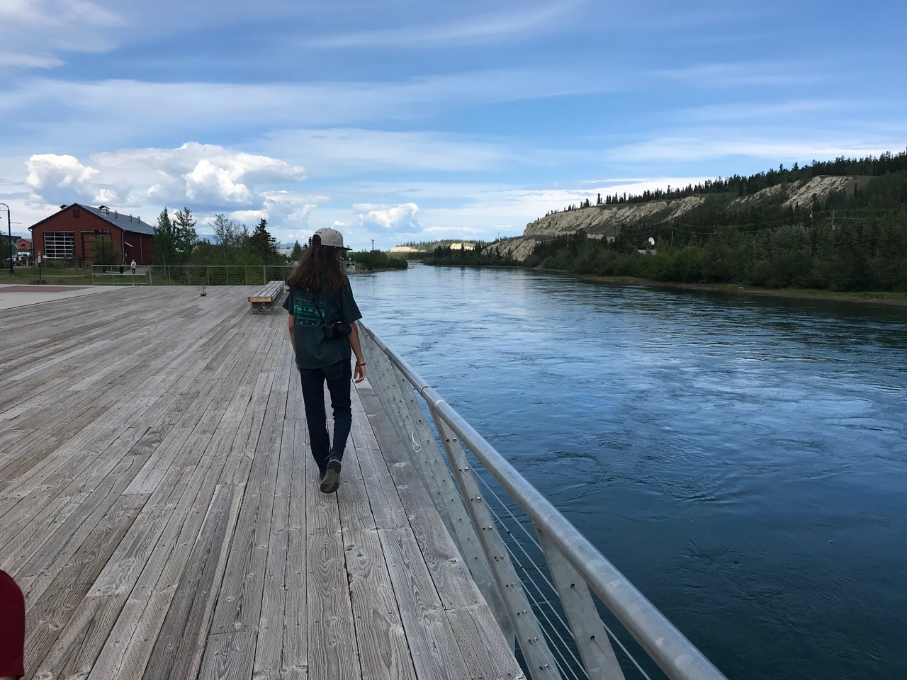 Downtown Whitehorse borders the Yukon River, and has a nice boardwalk/trail system.