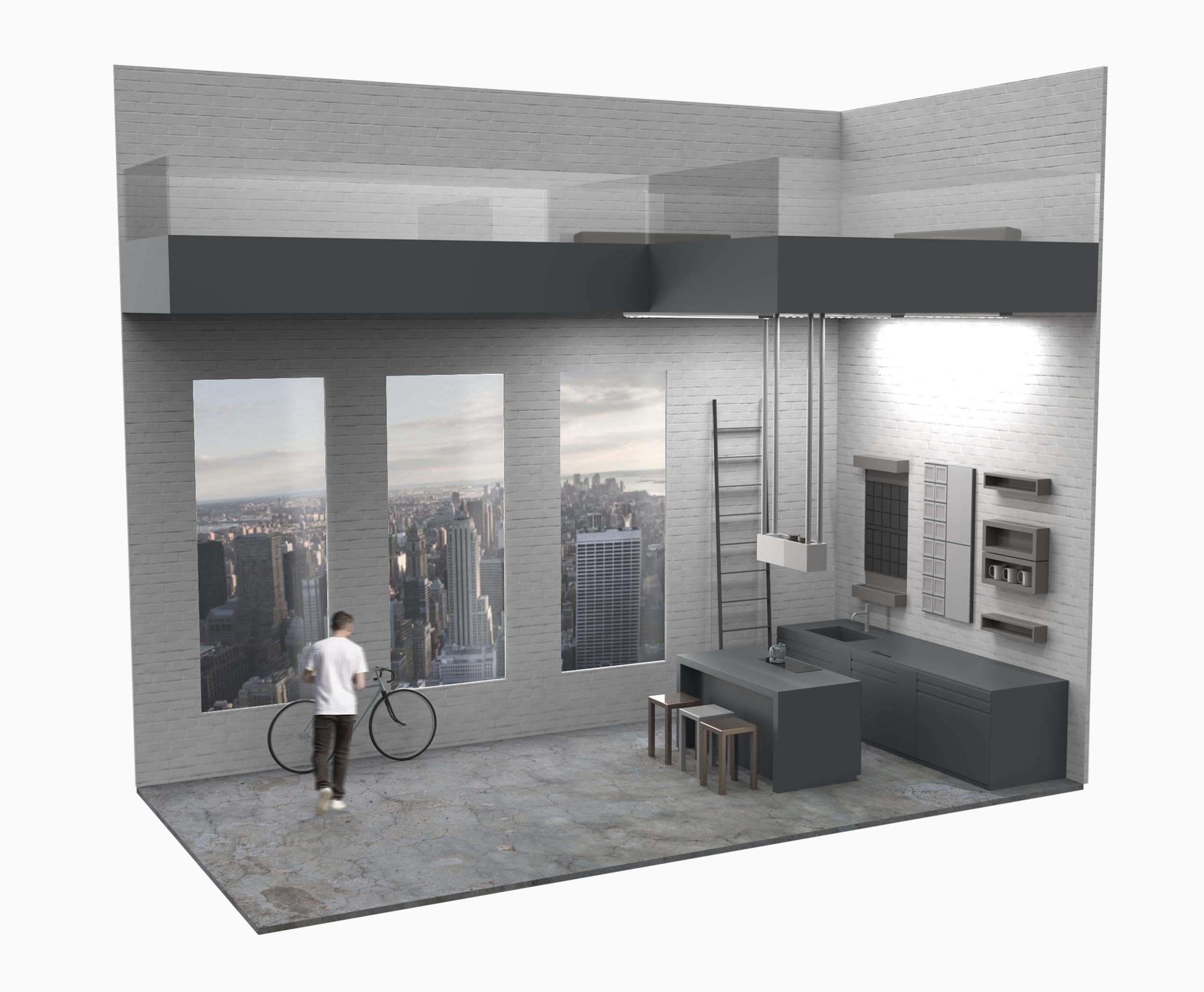 open loft (21 ft x 20 ft)