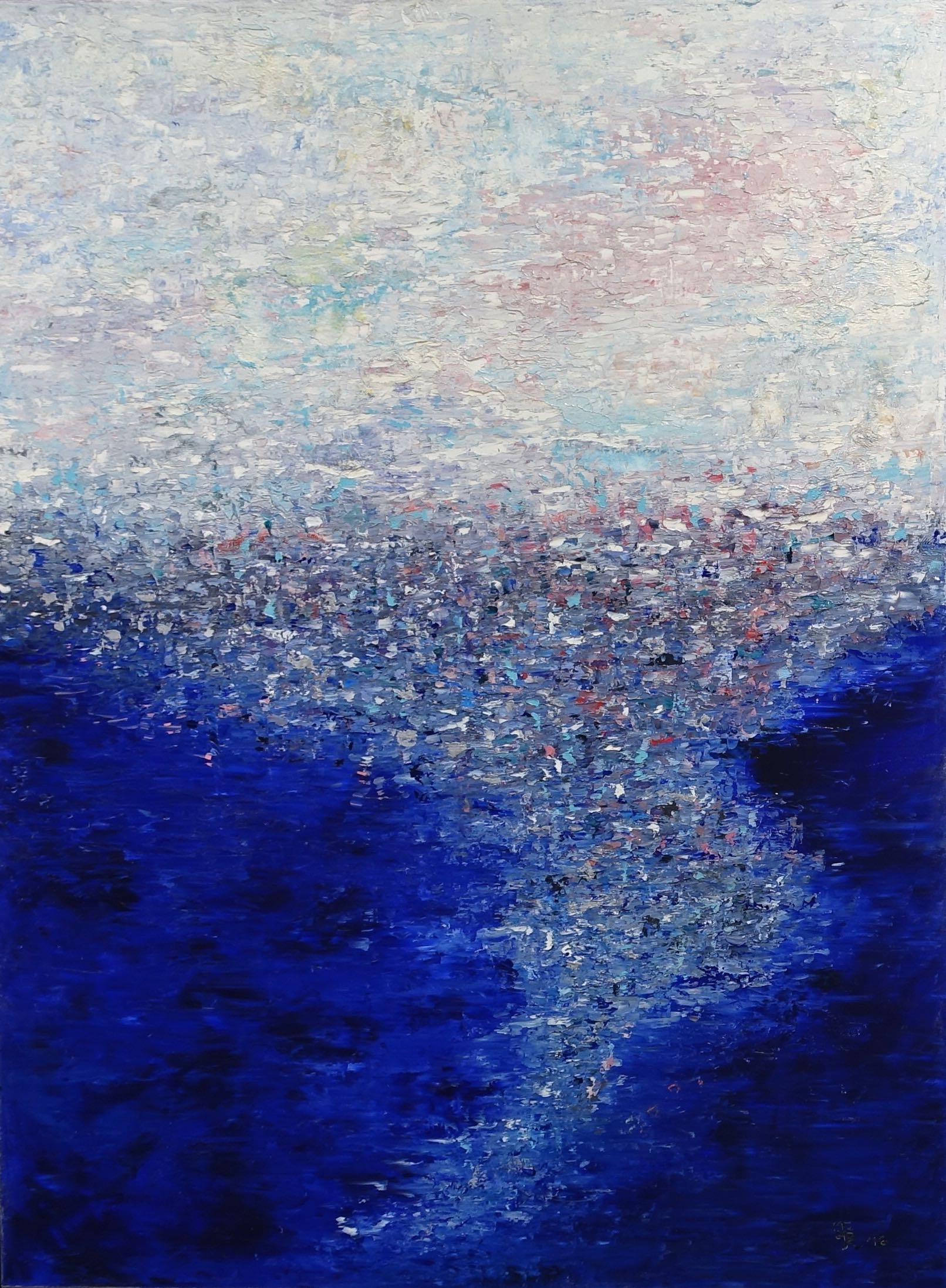 Jill S. Krutick, DREAMSCAPE 5, Oil on canvas, 40 x 30 inches (76.2 x 101.6 cm). Gifted by Bruce Helander to the Coral Springs Museum of Art, 2017.