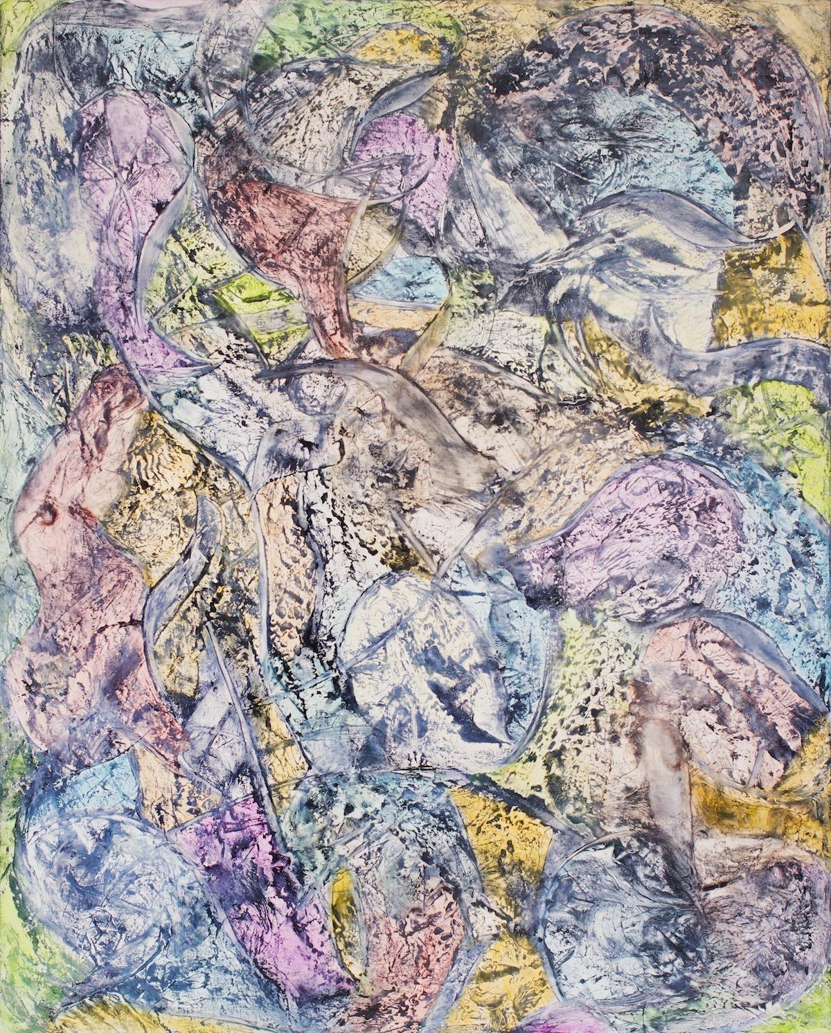 Jill Krutick,  Elektra, 2015,  Oil on canvas, 60 x 48 inches (152.4 x 121.9 cm). Framed: 62 x 50 inches (157.5 x 127.0 cm).