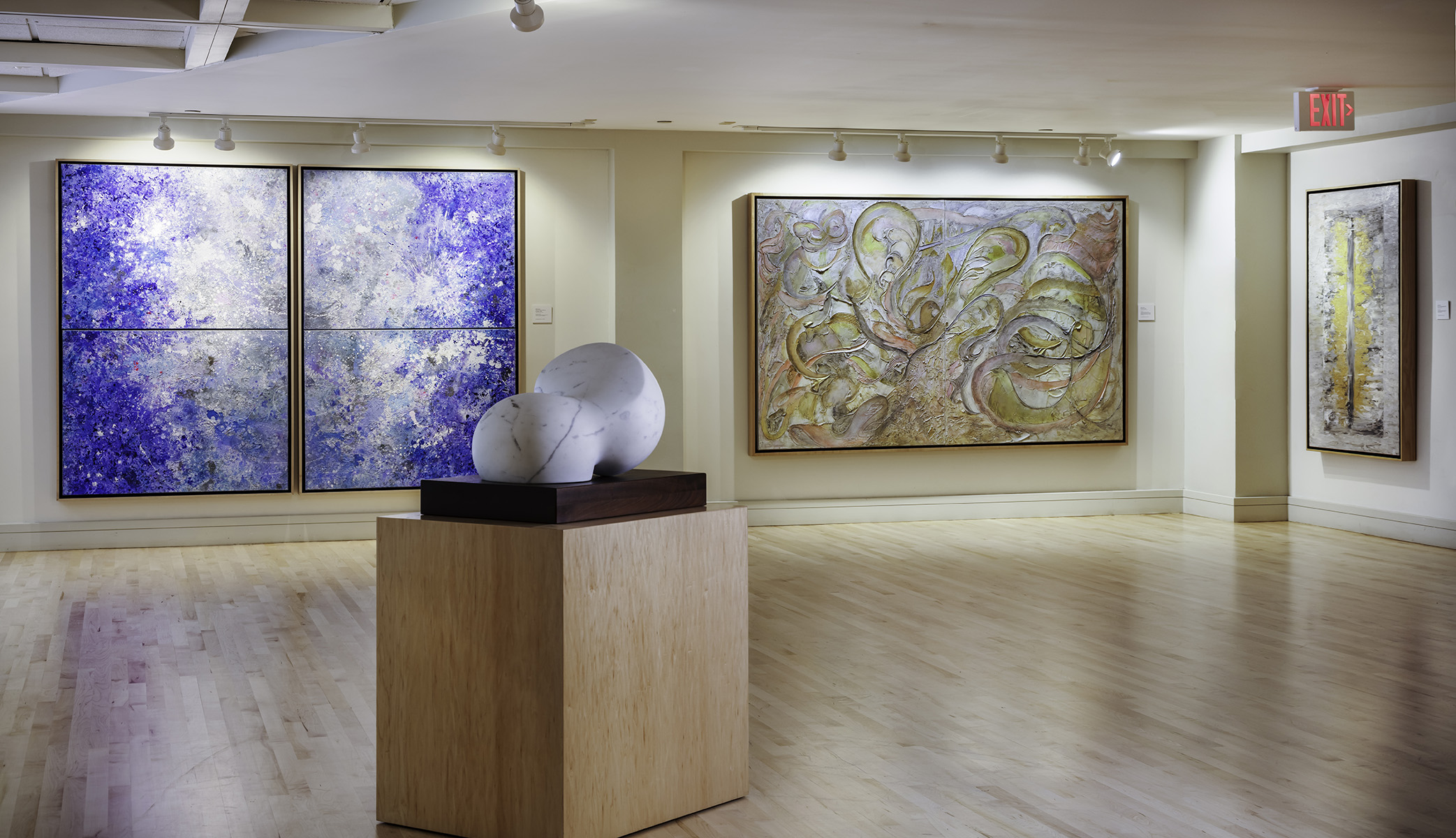 Photo: Kim Sargent Krutick's solo show  Lyrical Abstraction  at the Coral Springs Museum of Art.