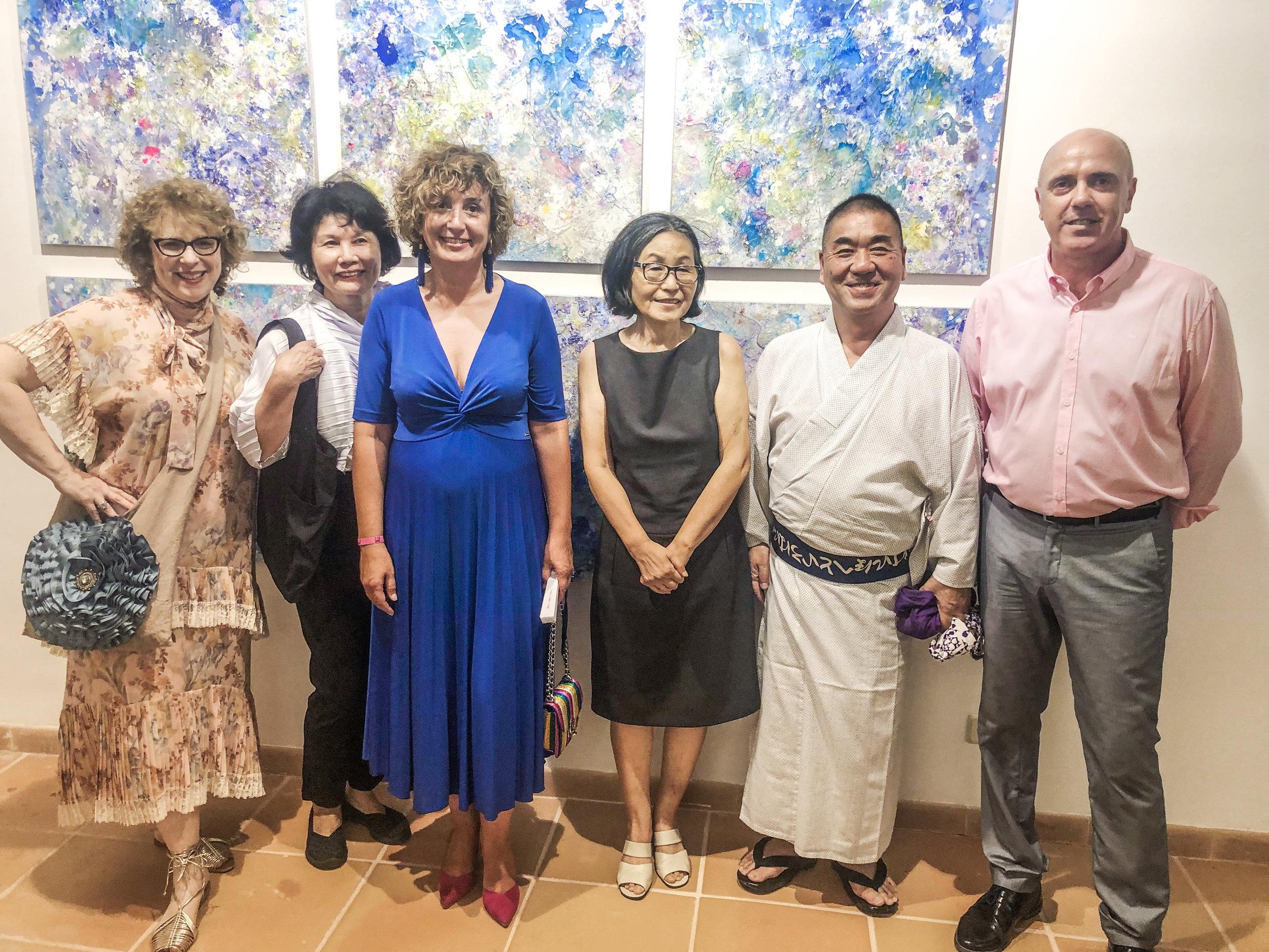 From left to right: Jill Krutick; Hisako Kobayashi; Francisca Mora Veny, Mayor of Porreres; Kumiko Okamoto-Paulisch; Tatsuya Kubota; Gaspar Móra Mulet, Minister of Tourism & Culture, Porreres