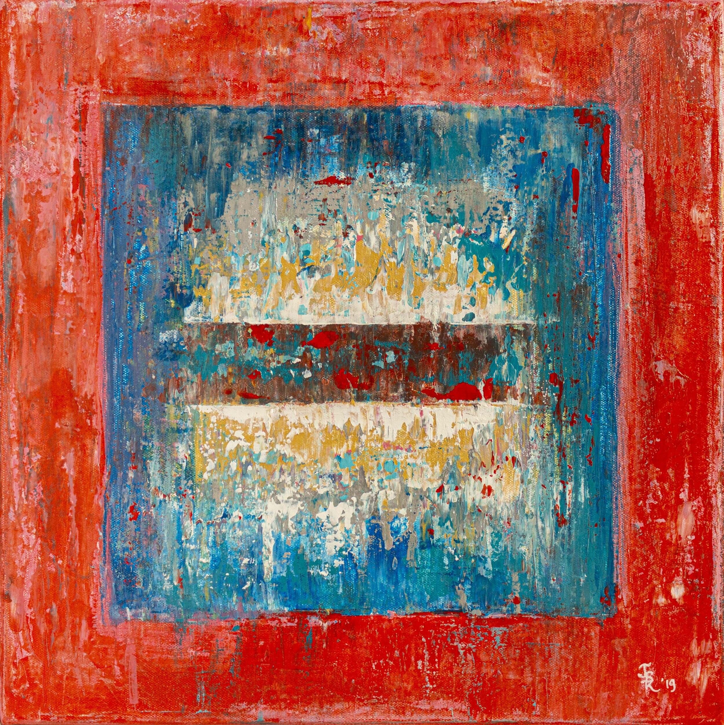 Ice Cube Small Red & Blue, 2019