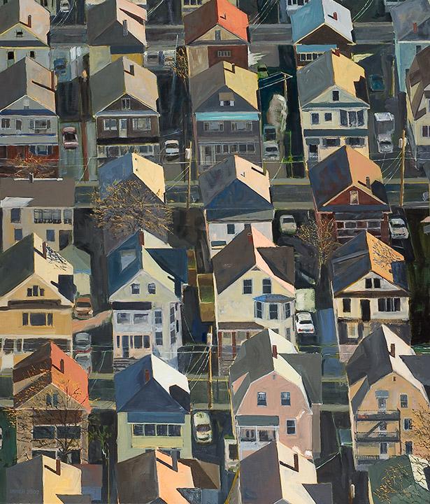"<i>Somerville 1</i> <br> 42 x 36"", Oil on Canvas"