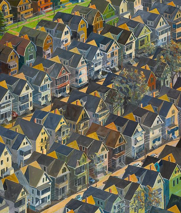 "<i>Somerville 2</i> <br> 42 x 36"", Oil on Canvas"