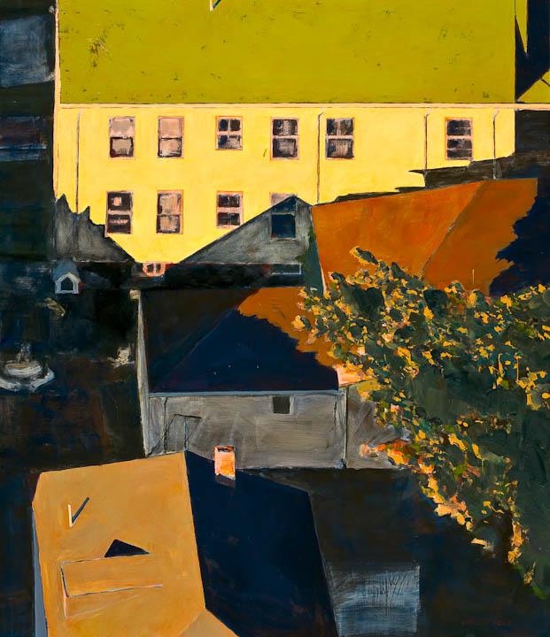 """<i>Somerville 11</i> <br> 42 x 36"""", Oil on Linen"""