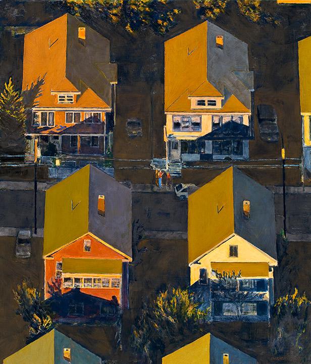 """<i>Somerville 10</i> <br> 42 x 36"""", Oil on Linen"""