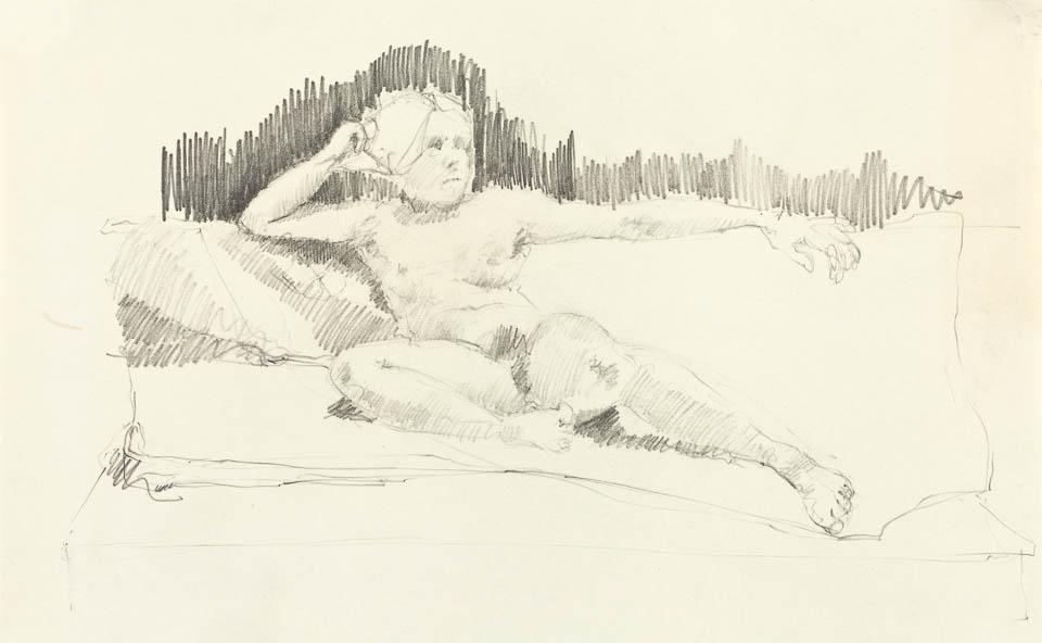 Figure Study, Graphite on Paper