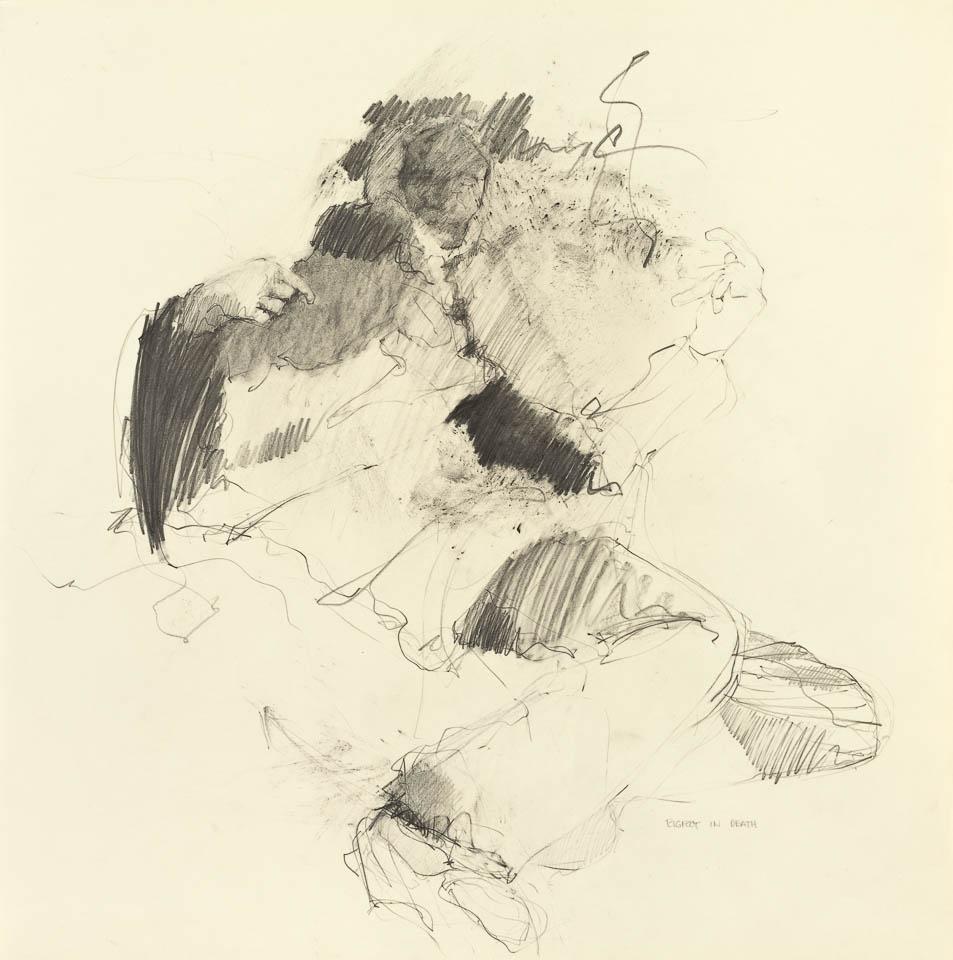 Bigfoot, Graphite on Paper