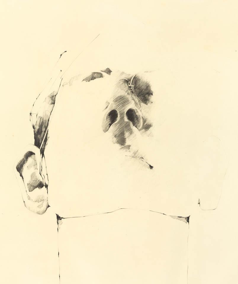 Self Portrait 1972, Graphite on Paper