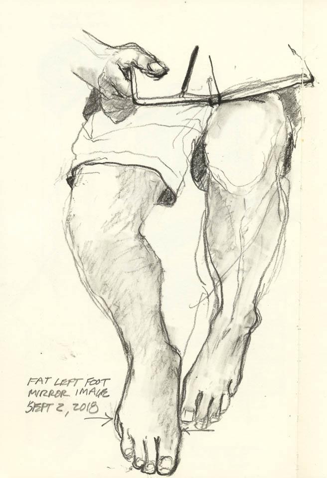 Legs, Graphite on Paper