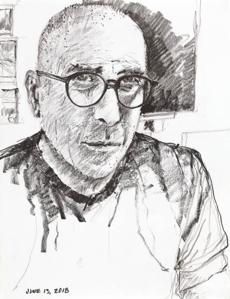 Self Portrait 2018, Graphite on Paper