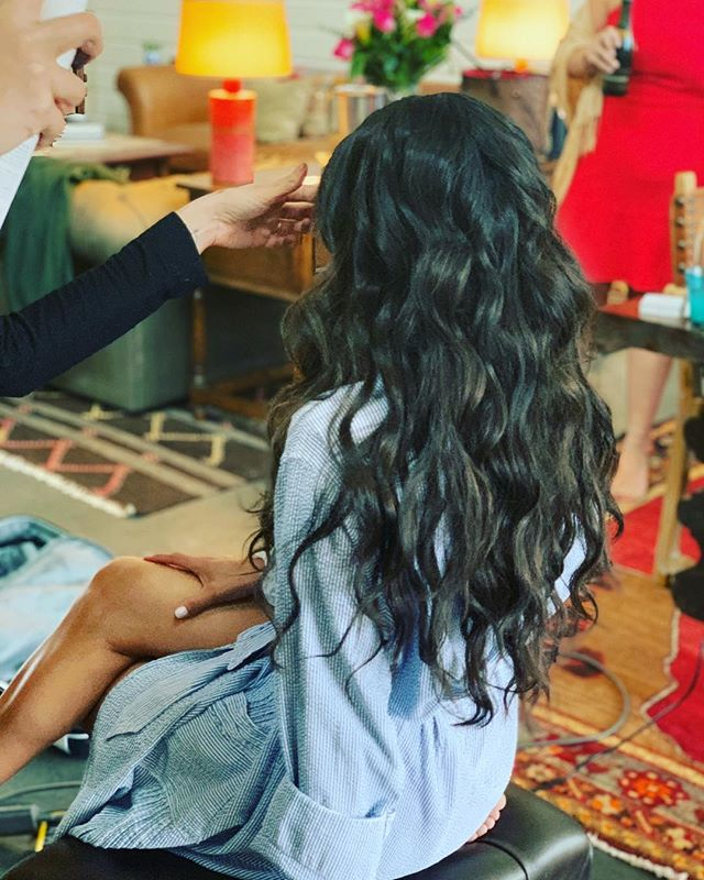 About last night rehearsal dinner do for @emtrevy ... she's married y'all! • • • #ittakesapro #maneinterest #beautylaunchpad #virtuelabs #donewithvirtue #behindthechair #modernsalon #americansalon #waves #longhair #sanantonio #arizona #california #newyork #davinescolor #maneaddicts #hairbrained #hotelemma #wedding #independentstylist #texas #texture #updo #weddinghair