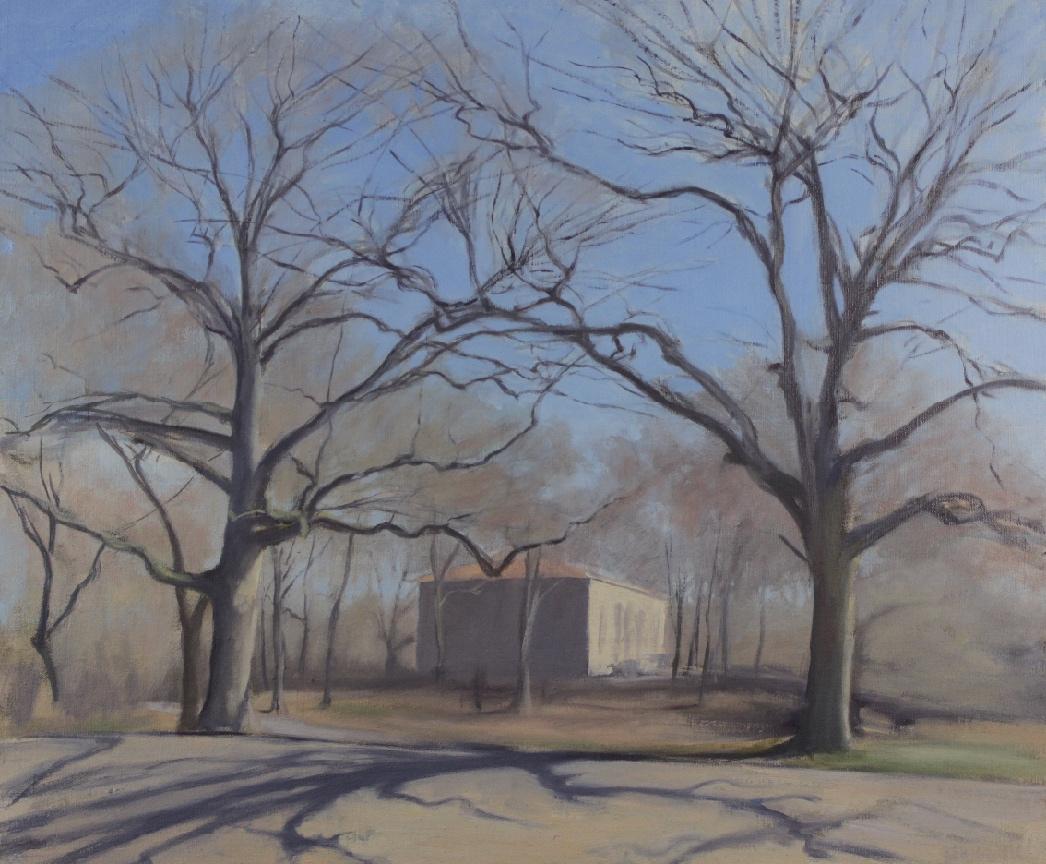 Winter Trees & Tennis House, Prospect Park