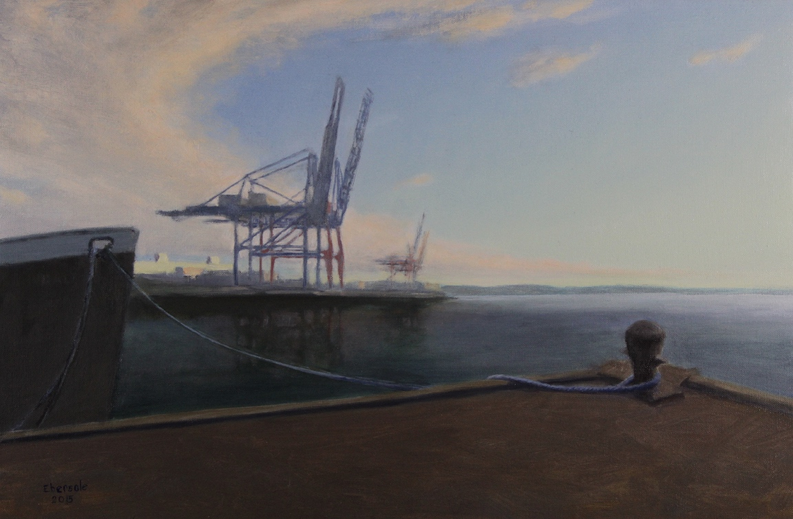 Container Port With Sweeping Clouds