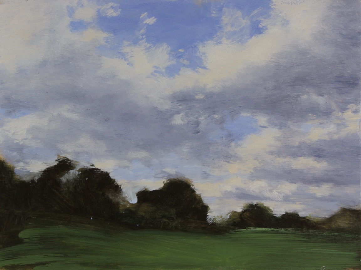 Prospect Park Study, Clouds & Trees