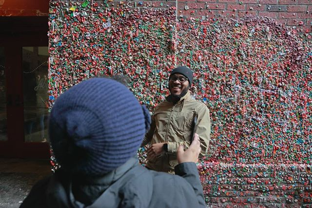 Can you see the love between these two?! ❤ This is the gumwall in Seattle (our hometown) under Pike Place Market. Yes, real chewing gum- not appealing, but a big attraction to visitors. Since its the weekend, we hope you get out, explore and find some interesting things in your city! Grab your dslr, point & shoot or phone and go snap! 📷