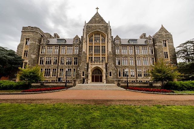 Georgetown University campus. Graduate degree obtained.