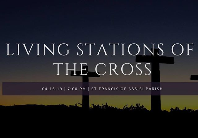 Join us tonight for the Living Stations of the Cross in preparation of Holy Week. ✝️