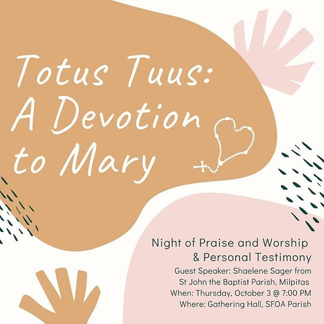 October is the month of the Most Holy Rosary! Join us for a night of praise and worship and a testimony by Shaelene Sager on her devotion to Mother Mary. 🌹