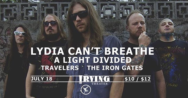 This is tonight! Our first time playing at the Irving Theater and we couldn't be more excited! Time to share the stage with our homies @lydiacantbreathe @alightdivided @theirongates  #metal #metalcore #djent #show #breakdowns #riffs #indymusic #supportlocals